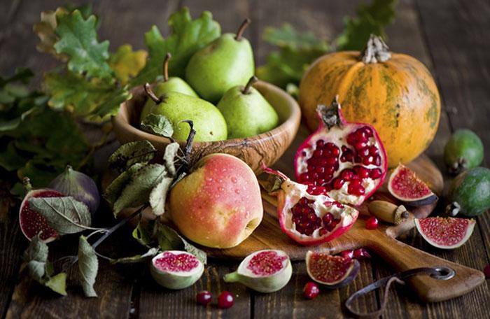 Frutas de otoño para una dieta saludable